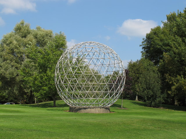 Sphere sculpture, University of Surrey