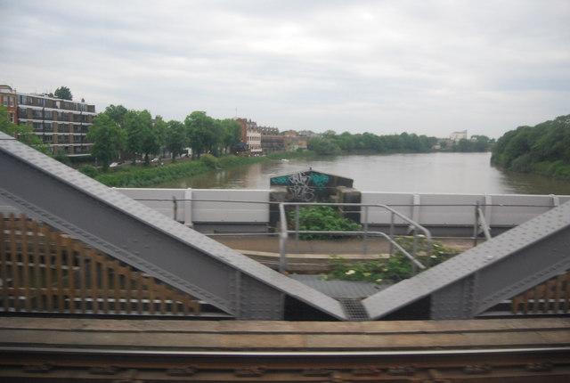 Crossing Barnes Bridge