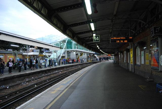 Platform 14, Clapham Junction Station