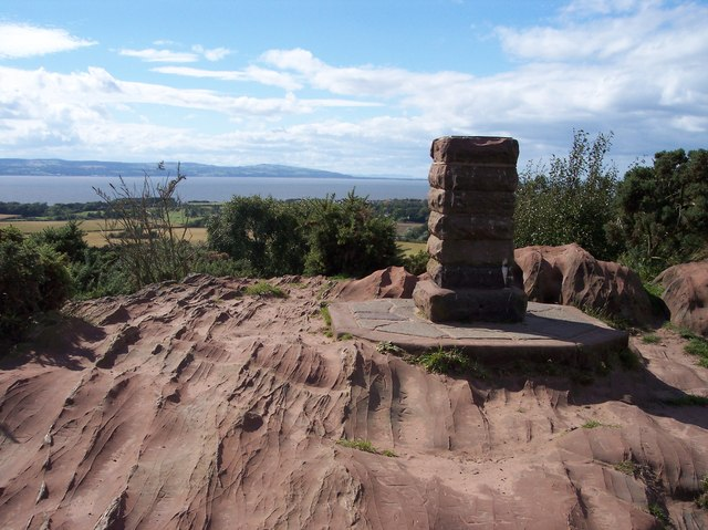 The viewpoint on Thurstaston Hill