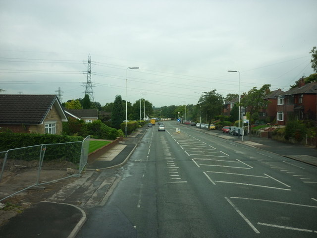 Looking along Manchester Road towards Bolton
