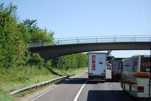 Footbridge over the M11