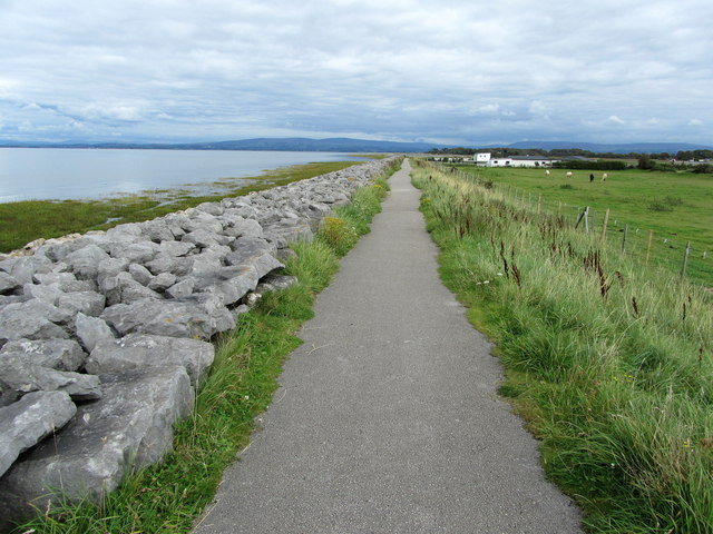 Lancashire Coastal Way near Cocker's Dyke