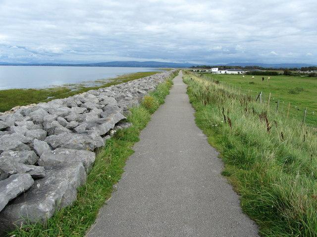 Lancashire Coastal Way near Cocker's Dyke