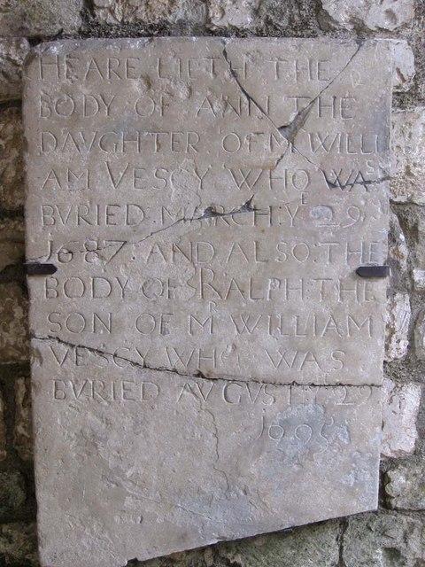 Grave slab, St Martin's, Wharram Percy