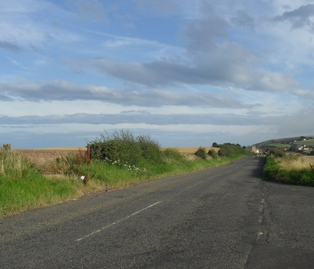 Coast road heading to Burnmouth from Eyemouth