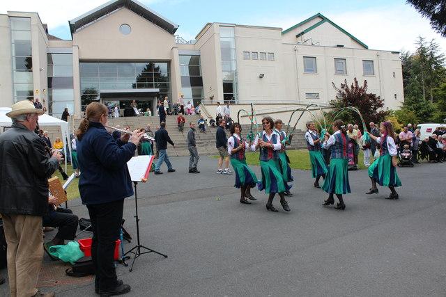 Appleyard performing in Priory Park, Malvern