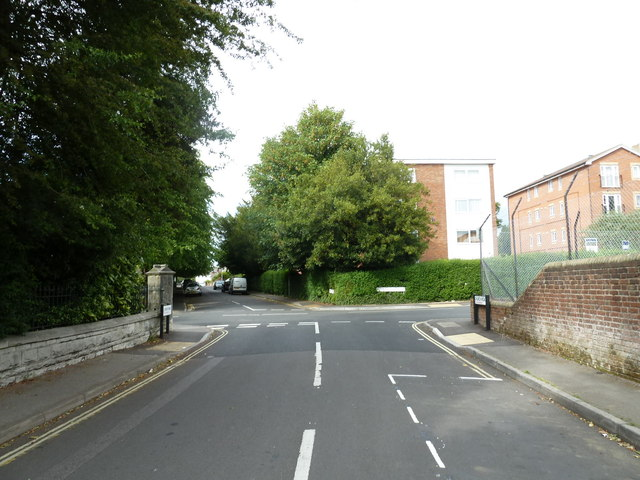 Crossroads of Church Road and Weston Grove Road
