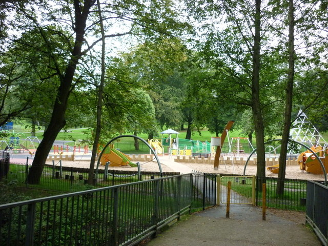 A play area in Queen's Park, Bolton