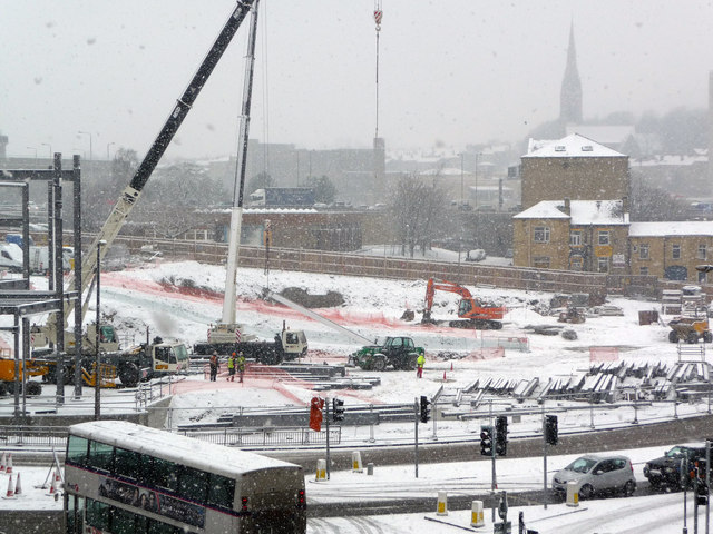 Broad Street Plaza development site, Halifax, in the snow
