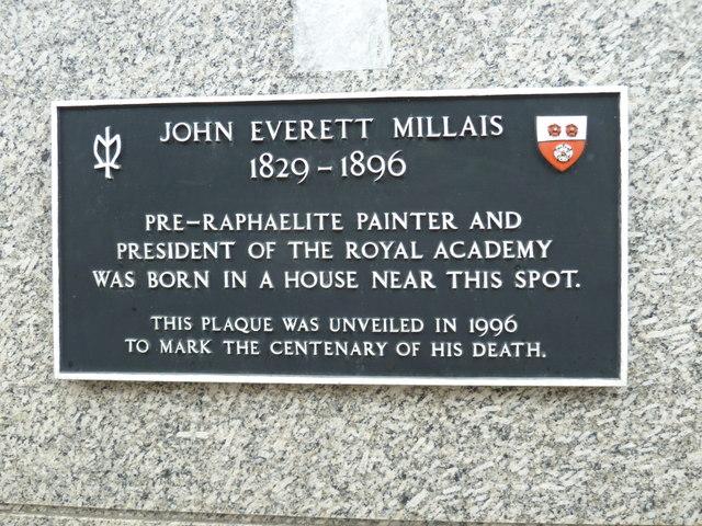 Plaque in Portland Street