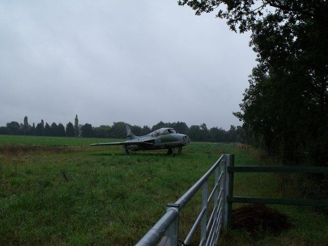 Plane in a field, near Woodhall Spa
