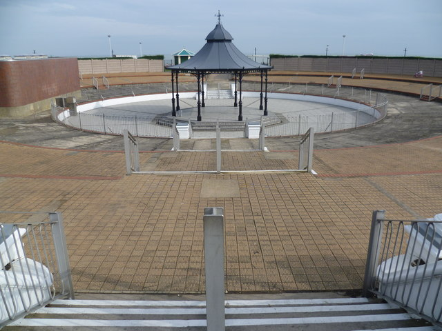 The bandstand at The Oval, Cliftonville