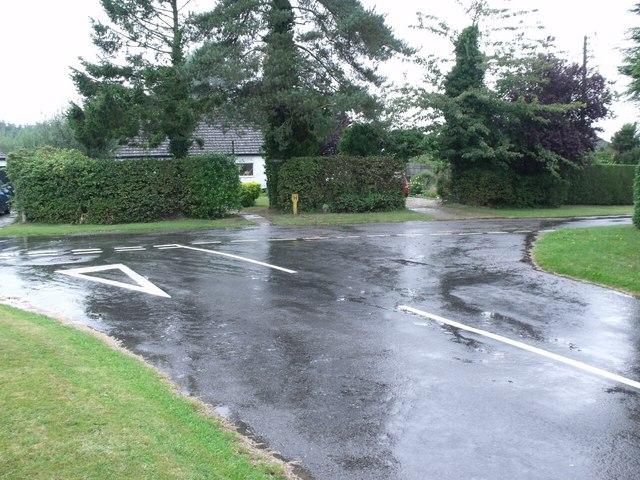 Wet Road near Tattershall Thorpe