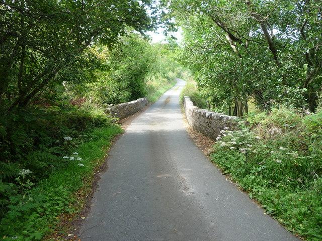 Road bridge on the lane