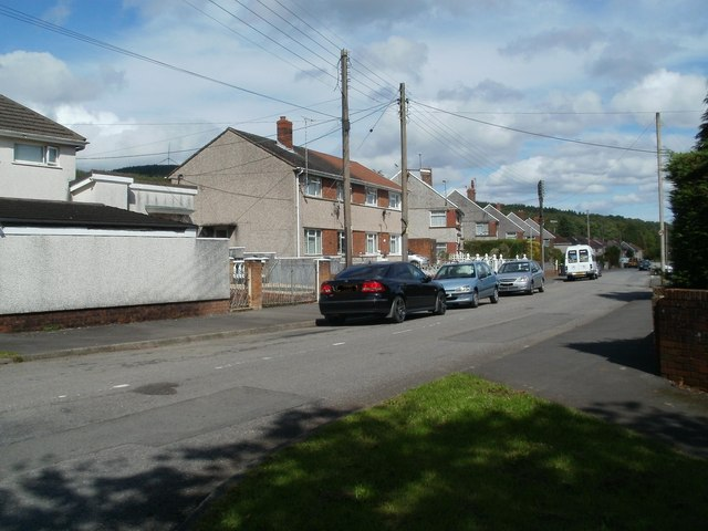 Western end of Morfa Glas, Glynneath