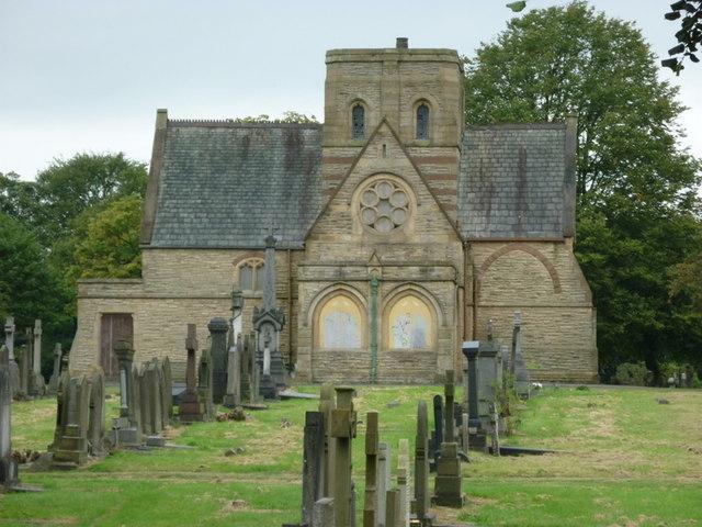 The church in Bolton cemetery