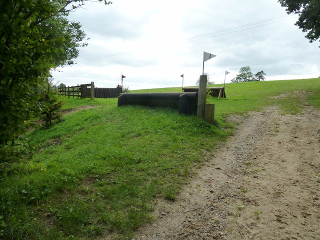 Horse jumps by footpath 1133/1