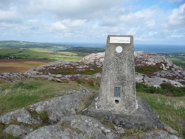 The trig point on Yr Arwydd looking north-eastwards