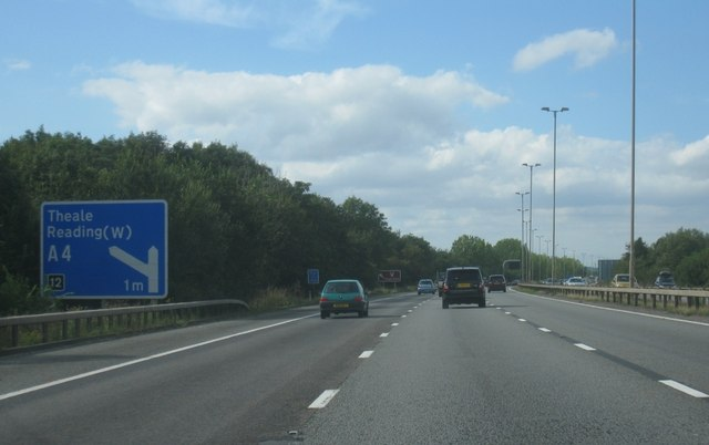 M4, 1 mile to  junction 12
