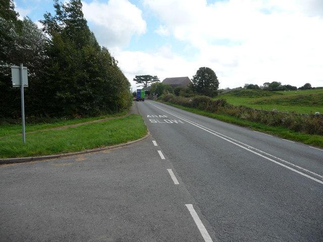 The A5025 near Brynrefail