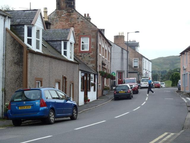 The A702 Edinburgh Road passing through Penpont