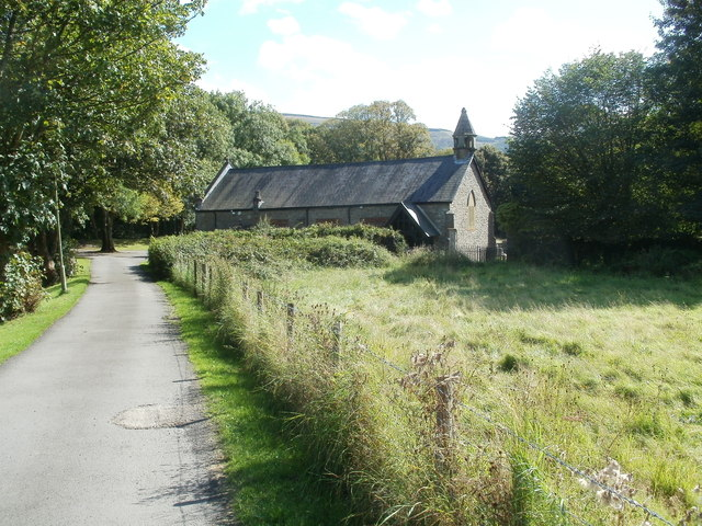 Path to Grade II* listed Church of St Cadoc, Glynneath
