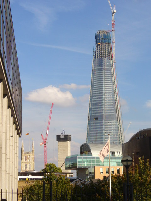 The Shard from Southwark Bridge Road