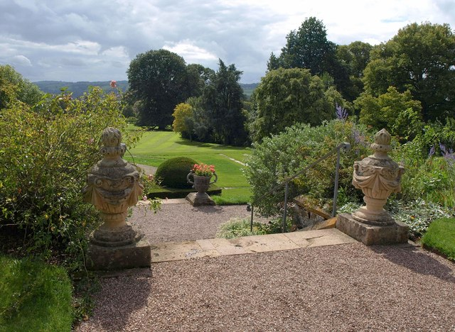 Top of the steps, Knightshayes Court