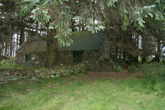 Abandoned cottage at Innesbrae