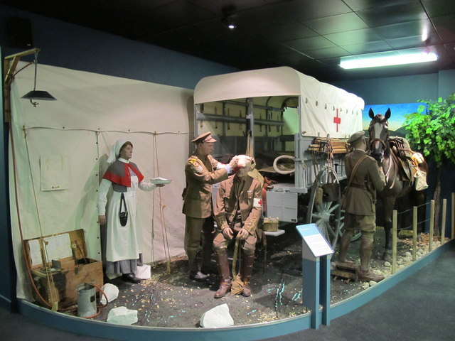 Army Medical Services Museum, WW1 horse-drawn ambulance