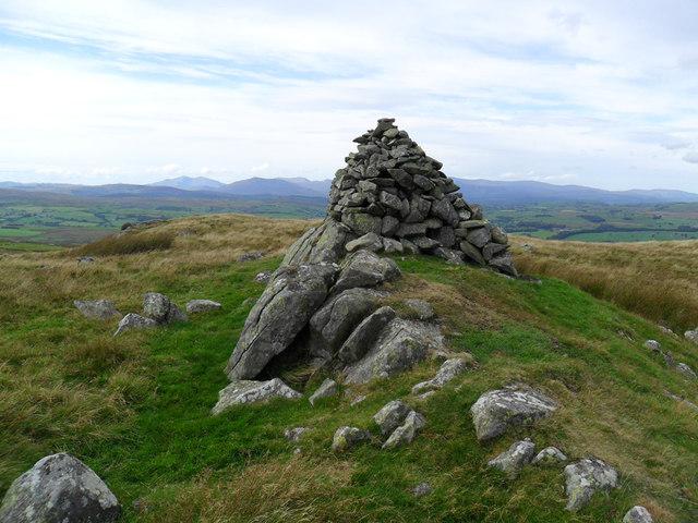 Summit cairn at Garn Prys