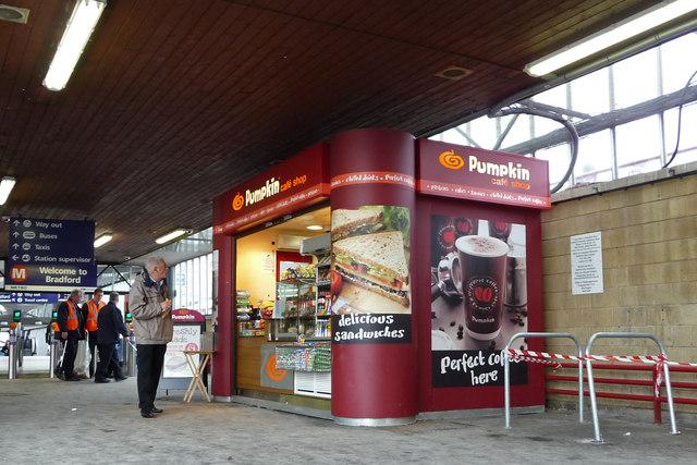 Kiosk at Bradford Interchange station