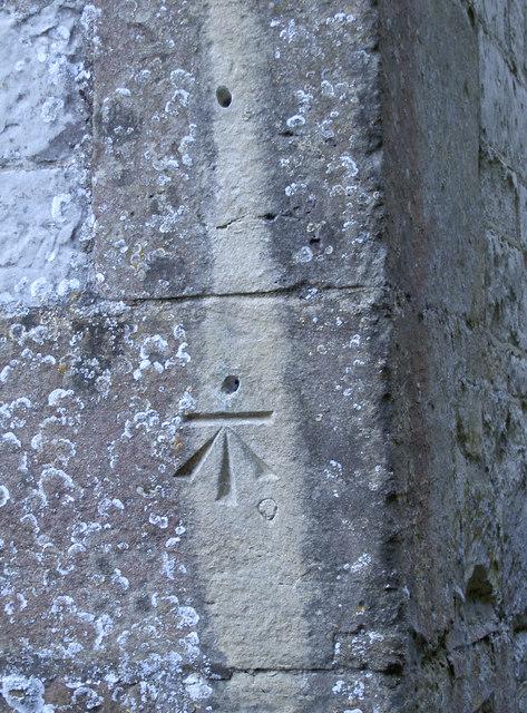 Benchmark on St Mary's, Ashbury
