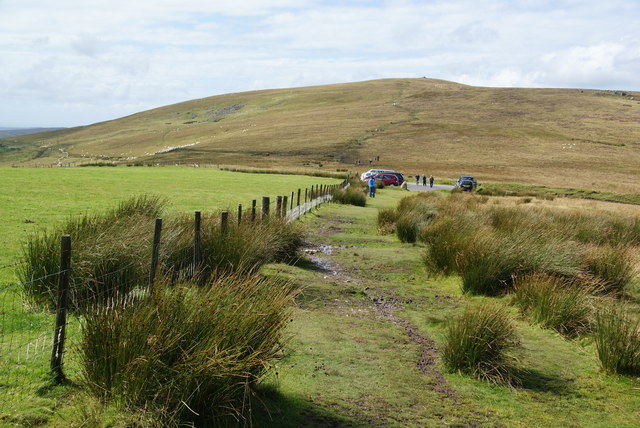 Path to the car park at Bwlch-gwynt