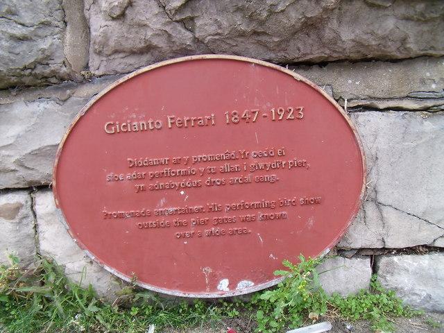 Gicianto Ferrari  1847 - 1923, Llandudno