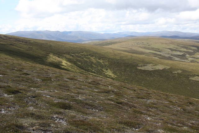 A corrie on the north side of Carn Ealasaid