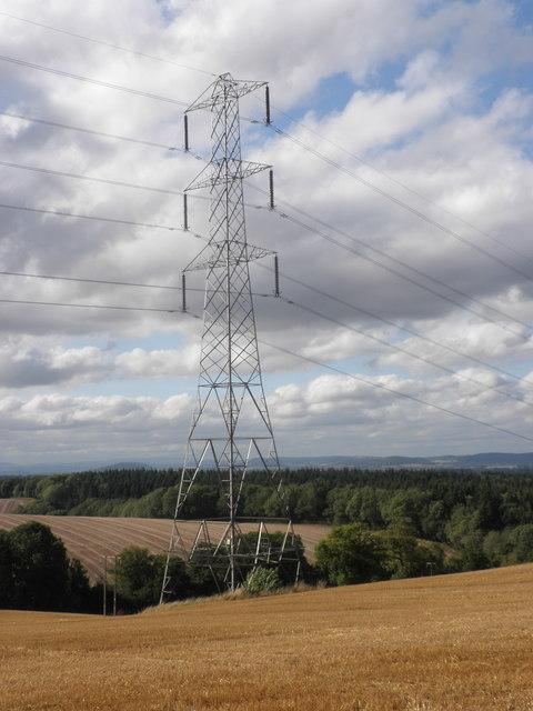 Electricity pylon, near Newtown
