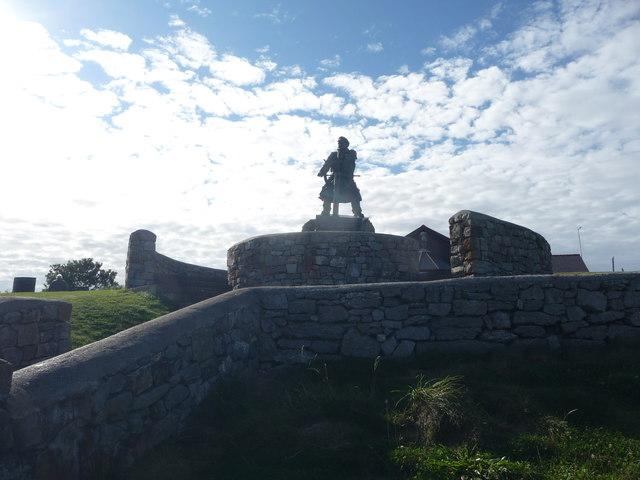 Dic Evans memorial at Moelfre