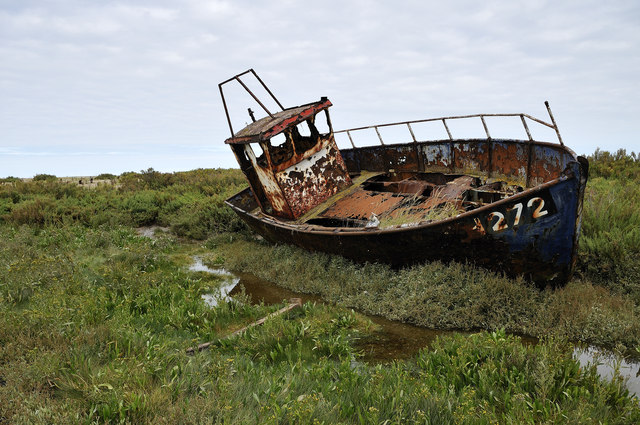 'WH272' washed up, Cley Channel