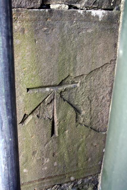 Benchmark on the School/Parish Hall