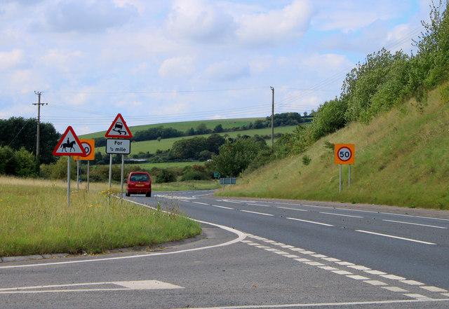 2011 : A36 heading west toward Heytesbury and Warminster