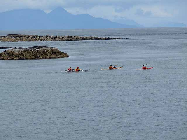 Sea canoes at Corran Lunga