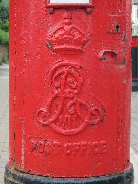 Edward VII postbox, Melrose Avenue / Cranhurst Road, NW2 - royal cipher