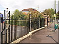 TQ4067 : Railings of Ravensbourne School by David Anstiss