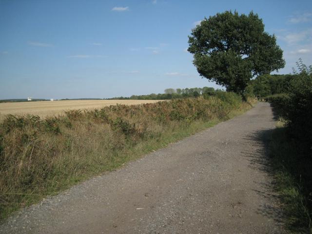 Western end of Mercote Hall Lane