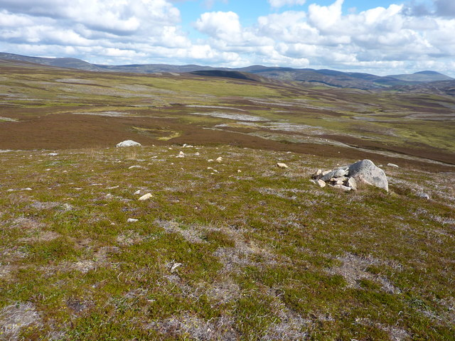 Large area of moorland bog feeding the Crathie Burn
