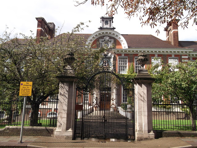 Entrance to Great Hall, Ravensbourne School
