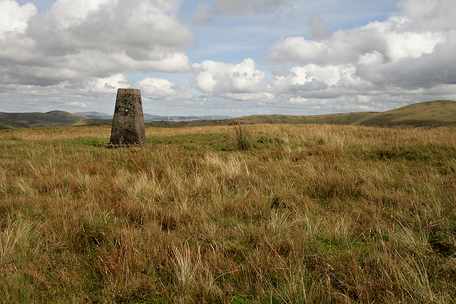 The triangulation pillar on Black Hill