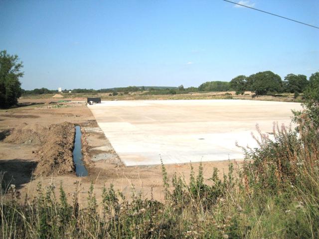 New concrete slab by Mercote Hall Lane
